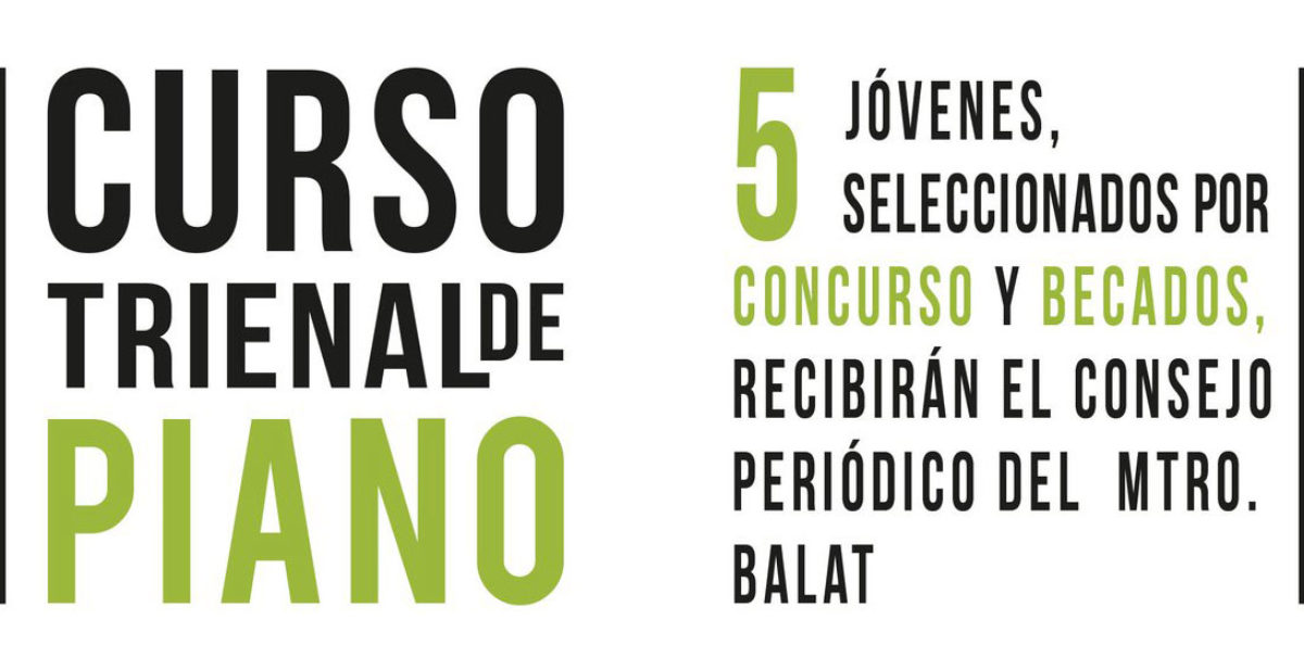 CURSO TRIENAL DE PIANO