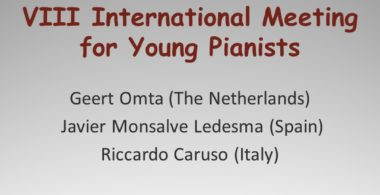 INTERNATIONAL MEETING FOR YOUNG PIANISTS