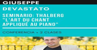 "Seminario ""Thalberg: L'art du chant appliqué au piano"" – Giuseppe Devastato"